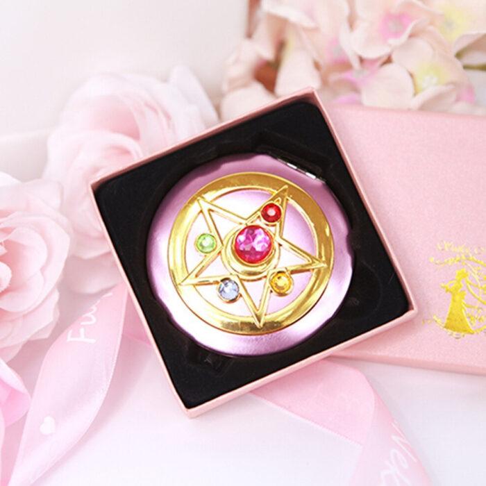 Regalos bonitos para el intercambio de Navidad; espejo de broche de transformación de Sailor Moon