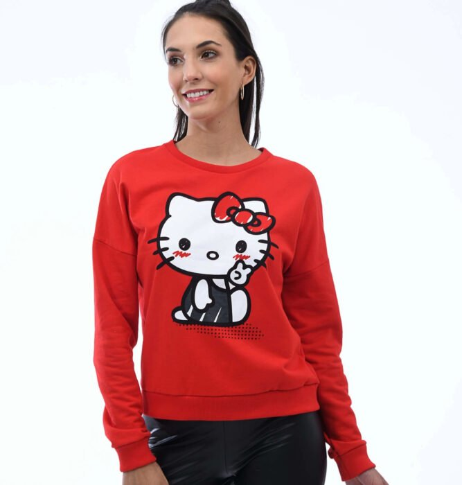 Regalos bonitos de Hello Kitty que puedes comprar en línea; sudadera roja