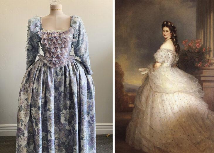 Vestido inspirado en la época rococo confeccionado por Sarah Hambly