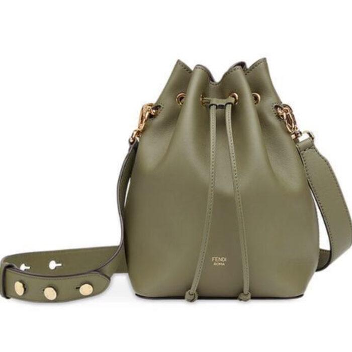 Bucket bag color verde army