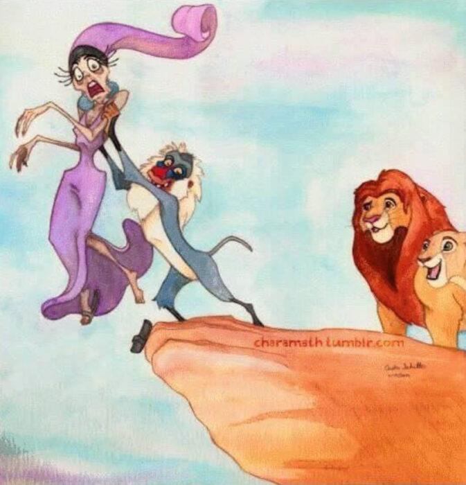 Yzma como protagonista de la película 'El rey león'