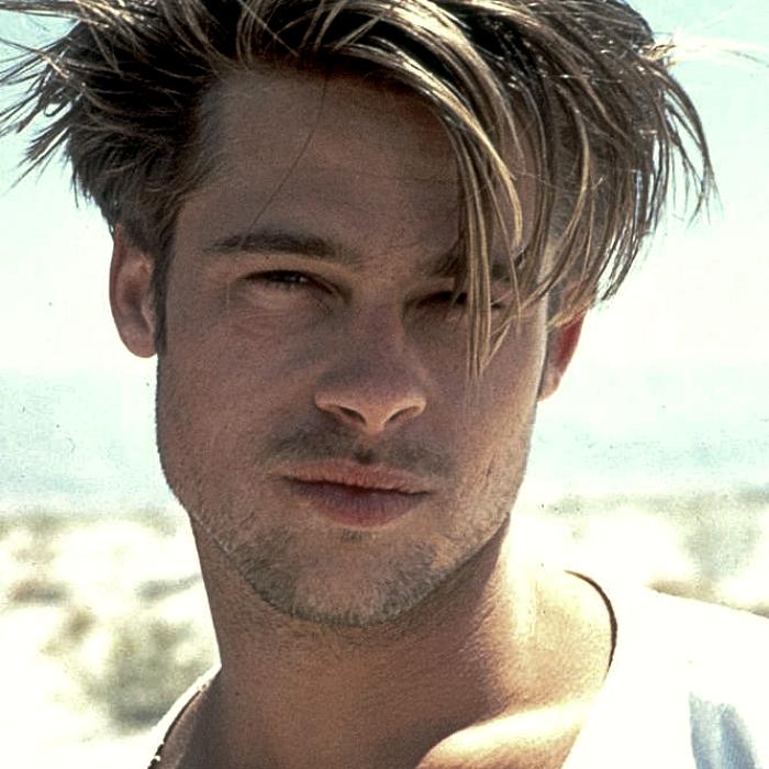 Brad Pitt jóven en 1990