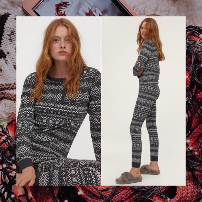 pijamas calientitas color gris de h&m