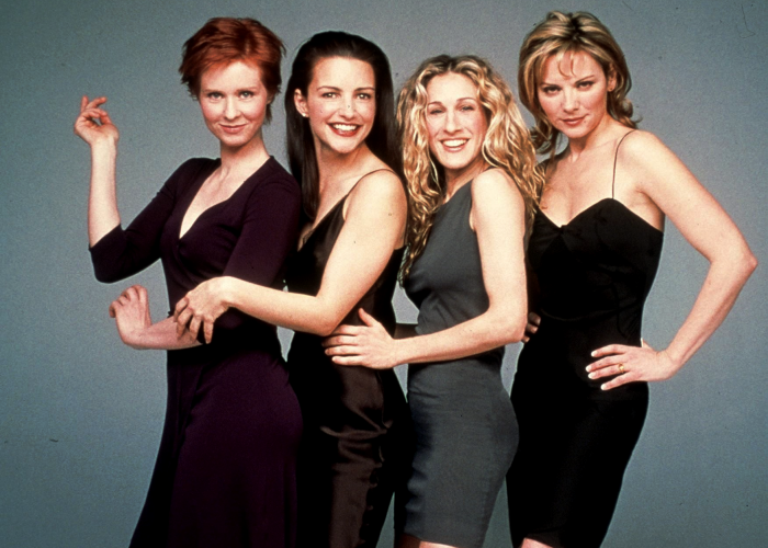sex and the city, cynthia nixon, kristin davis, sarah jessica parker y kim cattrall
