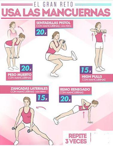 Guia de ejercicio para brazos; 13 Sencillas rutinas para cumplir tu propósito de Año Nuevo de una vez por todas