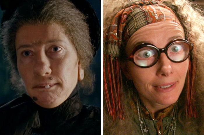 Emma Thompson como Nanny McPhee y Sybil Trelawney