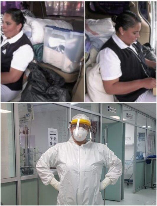 Enfermera se muda a vivir en una camioneta tras covid-19