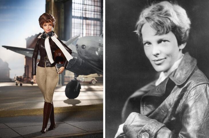 Barbie de Amelia Earhart, aviadora
