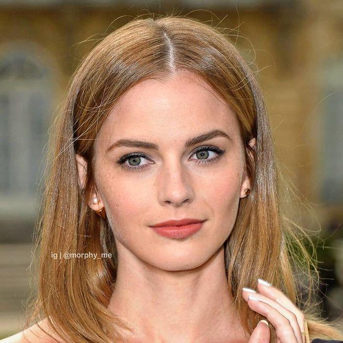 Emma Watson y Margot Robbie fusionados por  por el artista francés Morphy_me; Artista fusiona a dos celebridades y crea increíbles mashups