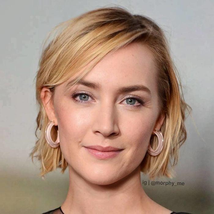 Saoirse Ronan y Kate Winslet fusionados por  por el artista francés Morphy_me; Artista fusiona a dos celebridades y crea increíbles mashups