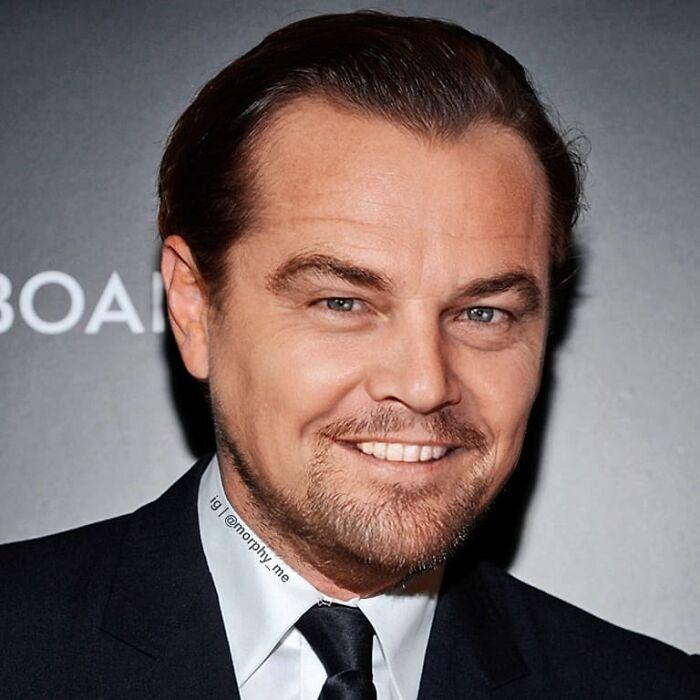 Leonardo DiCaprio y Jack Nicholson fusionados por  por el artista francés Morphy_me; Artista fusiona a dos celebridades y crea increíbles mashups