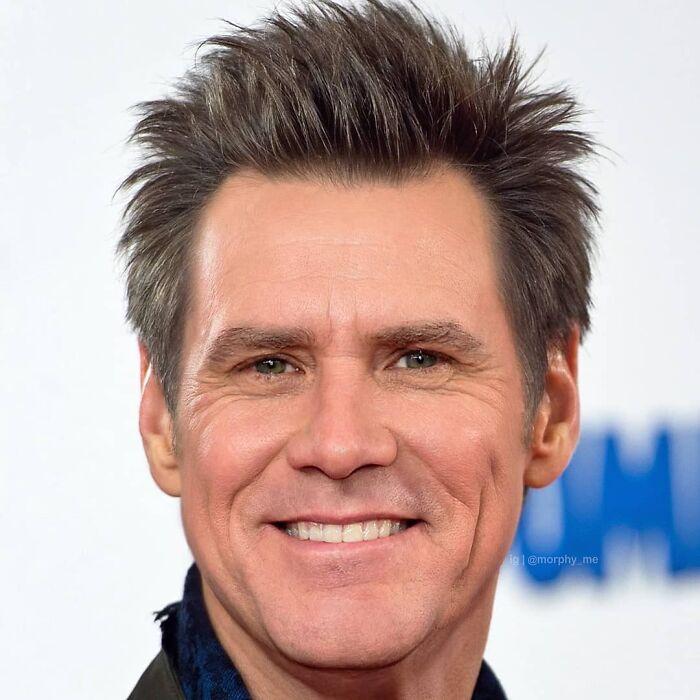 Jim Carrey y Will Ferrell fusionados por  por el artista francés Morphy_me; Artista fusiona a dos celebridades y crea increíbles mashups
