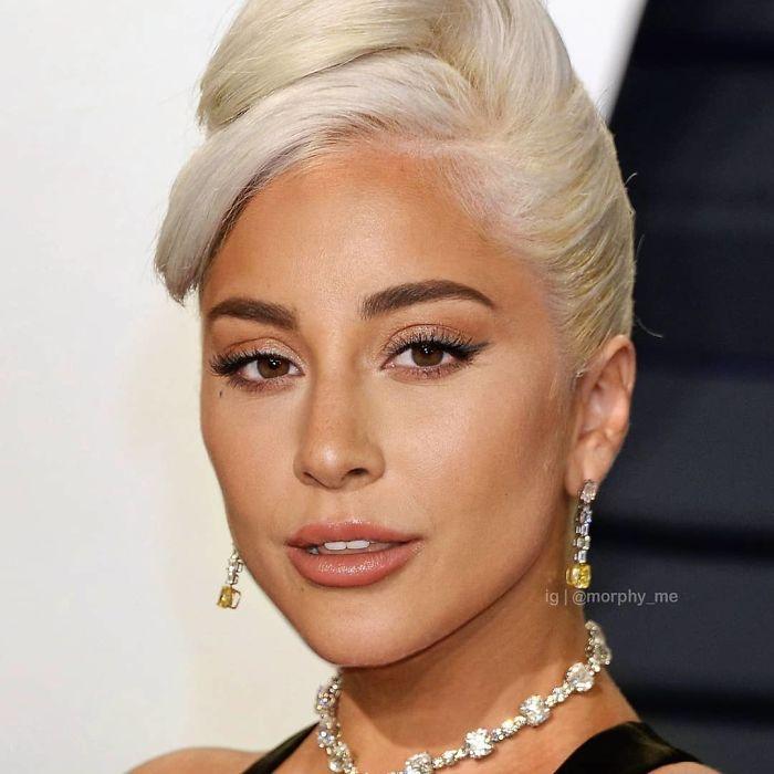 Lady Gaga y Ariana Grande fusionados por  por el artista francés Morphy_me; Artista fusiona a dos celebridades y crea increíbles mashups