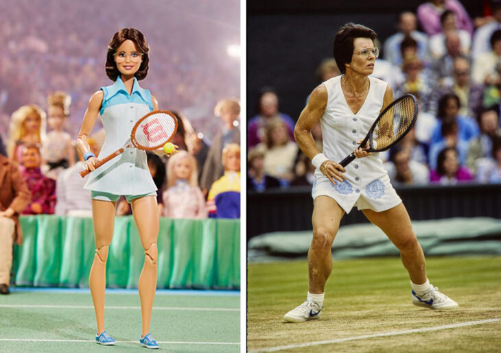 Barbie de Billie Jean King, jugadora de tenis