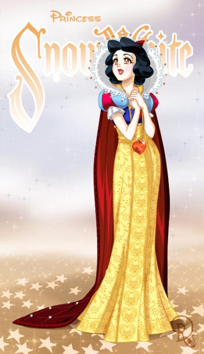 Ilustración digital de la artista Drachea Rannak, del personaje de Disney de Blanca Nieves en su versión anime