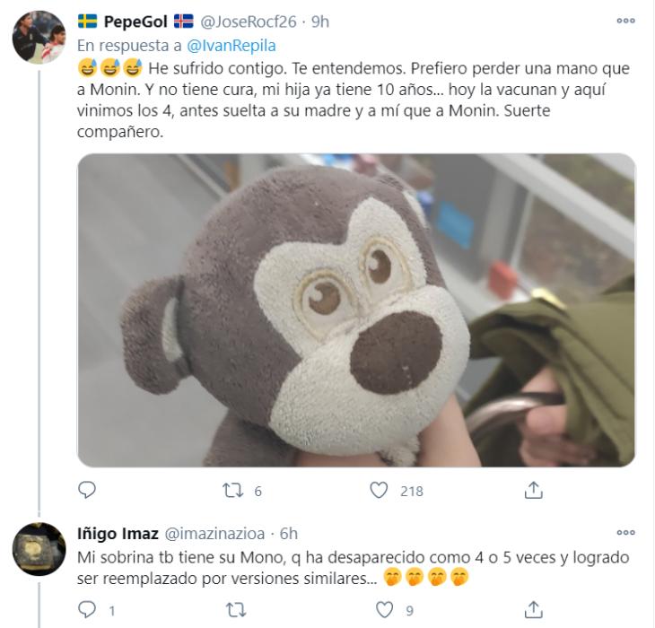 Tuits de padres buscando los peluches de sus hijos