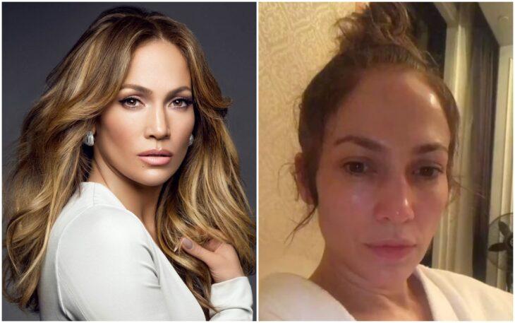 Jennifer López se muetsra con y sin maquillaje en Instagram; Jennifer López se muestra sin una gota de maquillaje y sorprende en Instagram
