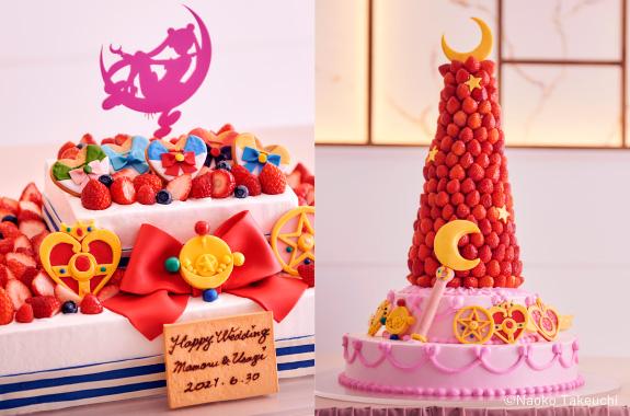 Pastel de bodas inspirado en Sailor Moon; Lanzan lujoso paquete de bodas inspirado en Sailor Moon; ¡es hermoso!