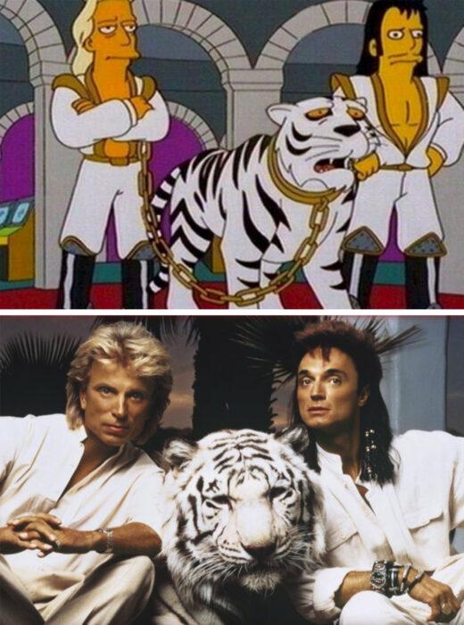 Los Simpson y el ataque del tigre blanco