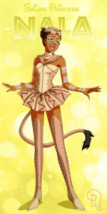 Ilustración digital de la artista Drachea Rannak, del personaje de Disney de Nala, de 'El rey león' en su versión anime