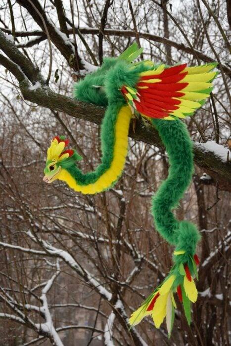 Peluche baby Quetzalcóatl