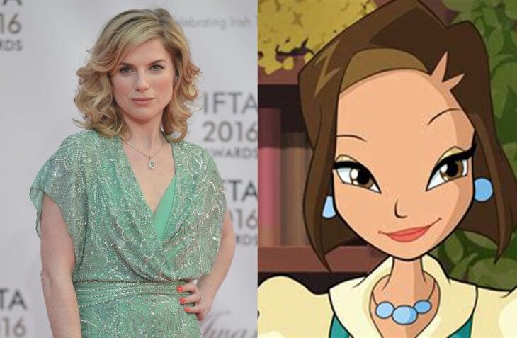 Eva Birthistle comparada con el personaje que interpretará del club winx