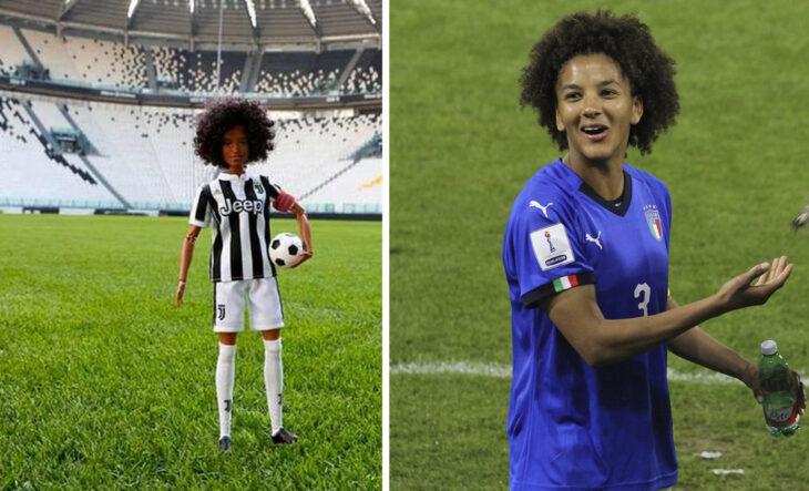 Barbie de Sara Gama, futbolista