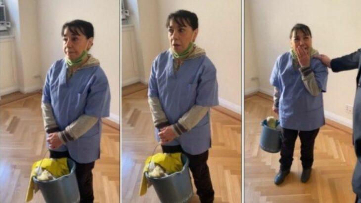 Rosa, empleada de limpieza, sorprendida al recibir un penthouse como agradecimiento