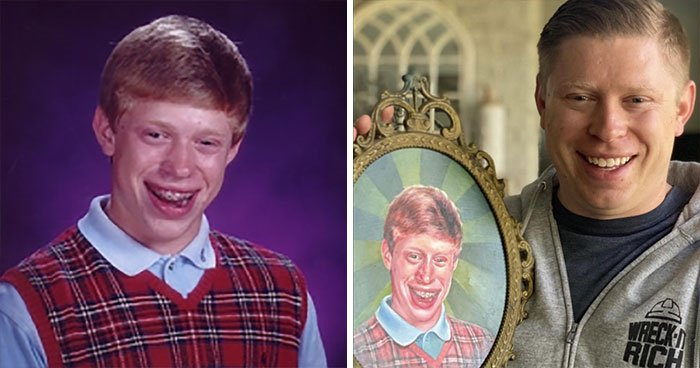 Antes y después del protagonista del meme Bryan mala suerte