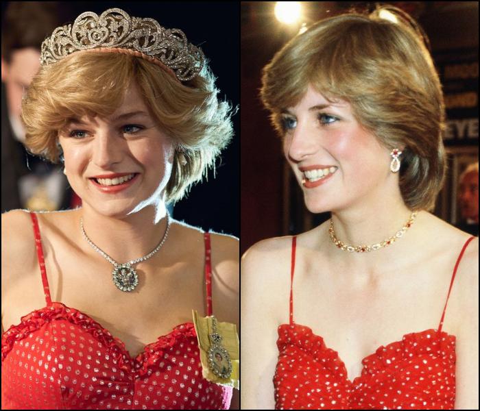 Emma Corrin como la princesa Diana, Lady D