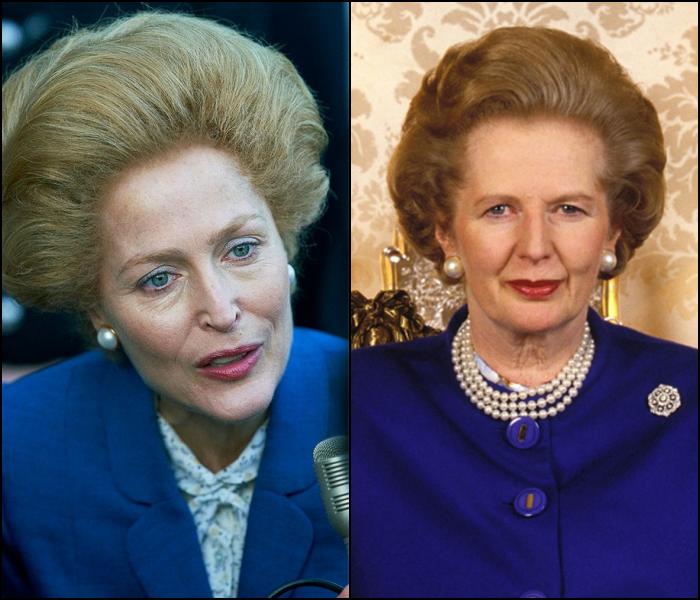 Gillian Anderson como la primer ministro Margaret Thatcher