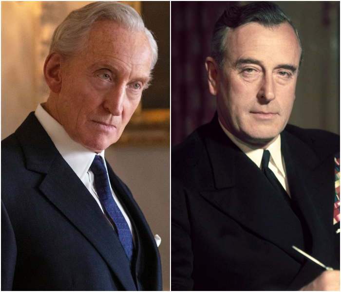 Charles Dance como Lord Mountbatten