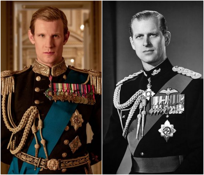 Matt Smith como el príncipe Felipe, duque de Edimburgo