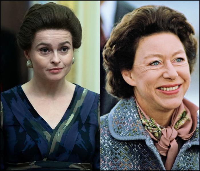 Helena Bonham Carter como la princesa Margarita de Inglaterra