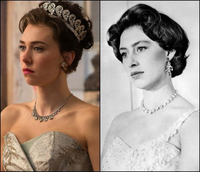 Vanessa Kirby como la princesa Margarita de Inglaterra
