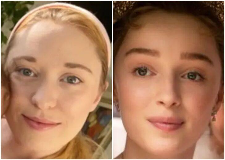 Persona siendo comparada con Phoebe Dynevor
