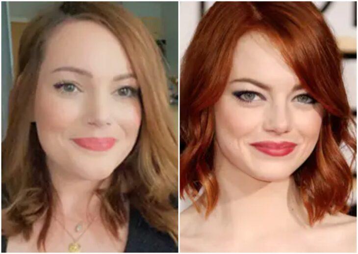 Persona siendo comparada con Emma Stone