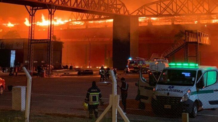 Incendio en el autodromo Santiago de Estero