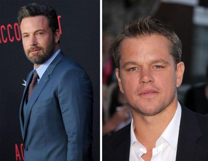 Del lado izquierdo Ben Affleck y Matt Damon del lado derecho