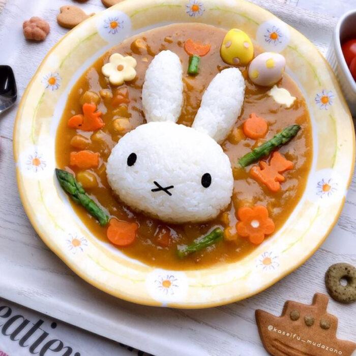 Platillo inspirado en el Conejo de pascua hecho por Kaseifu Mudazono