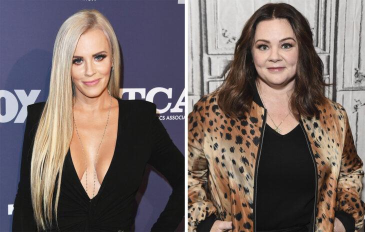 Del lado izquierdo Jenny McCarthy y Melissa McCarthy del lado derecho