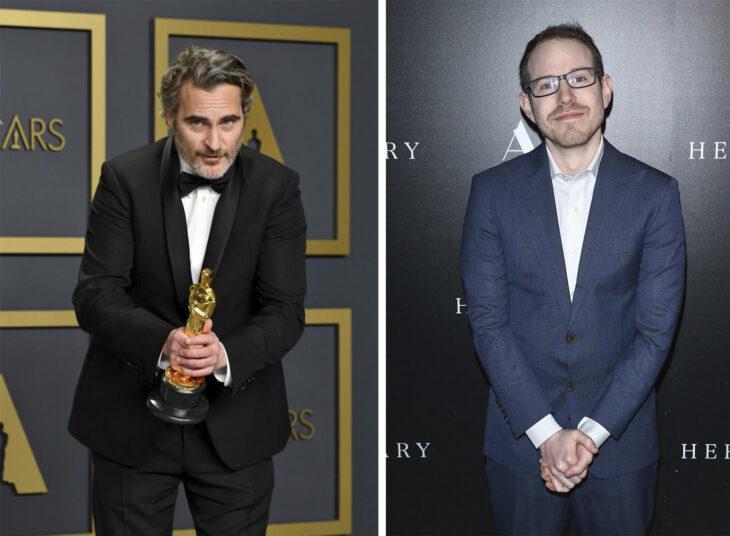 Del lado izquierdo el actor Joaquin Phoenix en los Óscar 202o y del lado derecho el director de cine Ari Aster