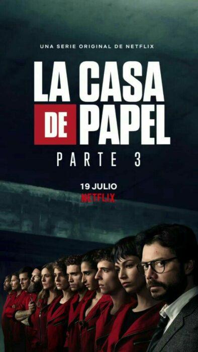 Poster de la serie 'La casa de papel'
