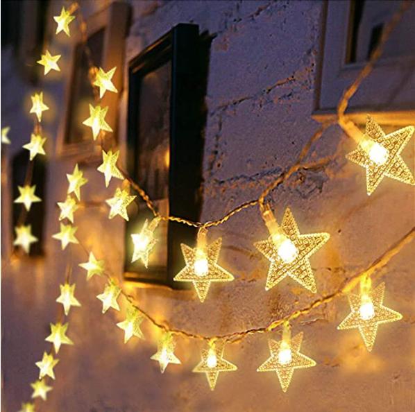 Luces en forma de estrellitas para decorar