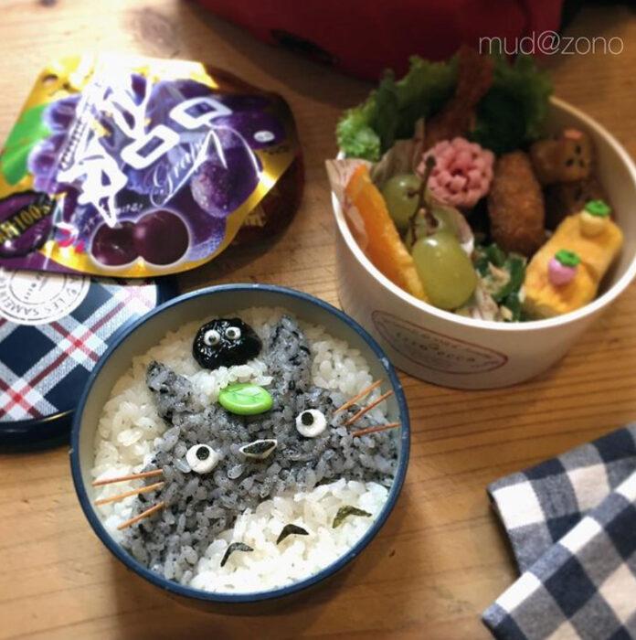 Platillo inspirado en Totoro hecho por Kaseifu Mudazono