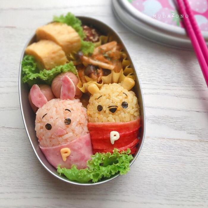 Platillo inspirado en Winnie Pooh  hecho por Kaseifu Mudazono