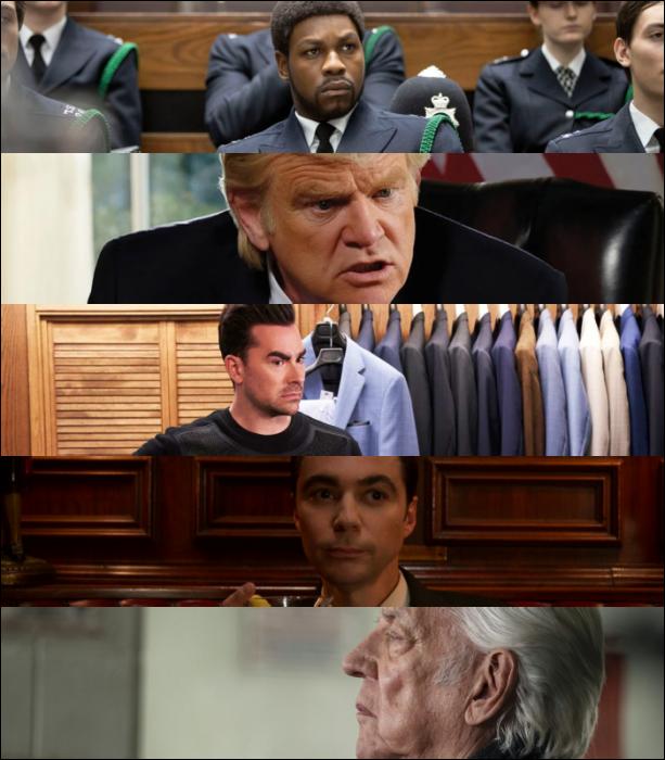 "John Boyega (""Small Axe"")   Brendan Gleeson (""The Comey Rule"")   Dan Levy (""Schitt's Creek"")   Jim Parsons (""Hollywood"")  Donald Sutherland (""The Undoing"")"