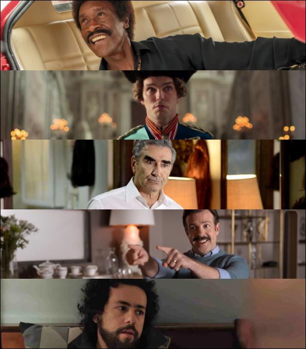 "Don Cheadle (""Black Monday"")  Nicholas Hoult (""The Great"")   Eugene Levy (""Schitt's Creek"")   Jason Sudeikis (""Ted Lasso"")   Ramy Youssef (""Ramy"")"