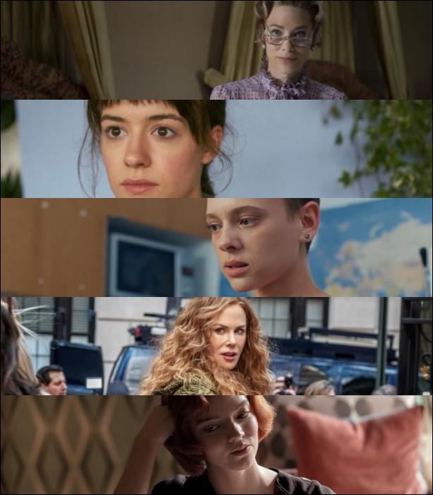 "Cate Blanchett (""Mrs. America"")   Daisy Edgar-Jones (""Normal People"")  Shira Haas (""Unorthodox"")   Nicole Kidman (""The Undoing"")   Anya Taylor-Joy (""The Queen's Gambit"")"