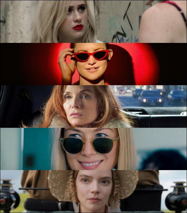 "Maria Bakalova (""Borat Subsequent Moviefilm"")   Kate Hudson (""Music"")  Michelle Pfeiffer (""French Exit"")   Rosamund Pike (""I Care a Lot"")  Anya Taylor-Joy (""Emma"")"